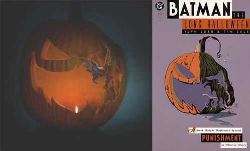 La calabaza de Why So Serious y su clara referencia a Batman: El Largo Halloween de Jeph Loeb y Tim Sale